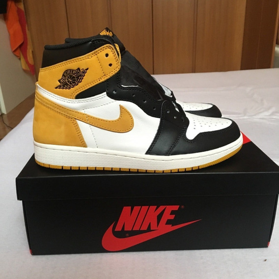 Tenis Air Jordan 1 Retro High Yellow Ochre Best Hand