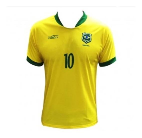 Camisa Selecao Brasileira Futebol Masculina Unissex Promocao