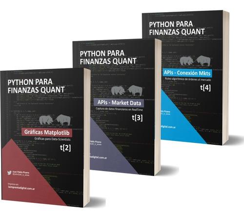 Libros Aprendé Python Desde 0 Trading Quant - Combo 3 Tomos