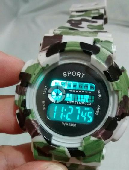 Relógio Militar Masculino Camuflado Tipo Exército Americano
