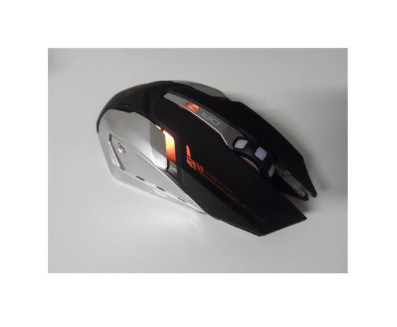 Mouse Gamer Silencioso Sem Fio Recarregável 3200 Lítio Led