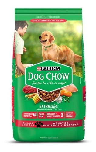 Imagen 1 de 4 de Alimento Para Perro Adulto Dog Chow Razas Med Y Gdes 25kg.
