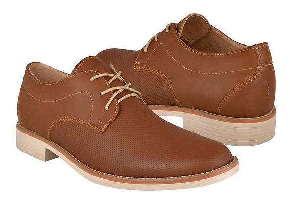 Zapatos Casuales Para Caballero Stylo 3001 Simipiel Tan