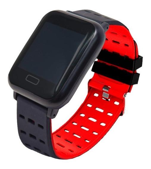 Smartwatch Sport Touch Bluetooth Celular Necnon K-3t Rojo
