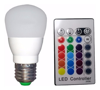 Lampara Bulbo Led Rgb Colorful 5w Con Control Remoto