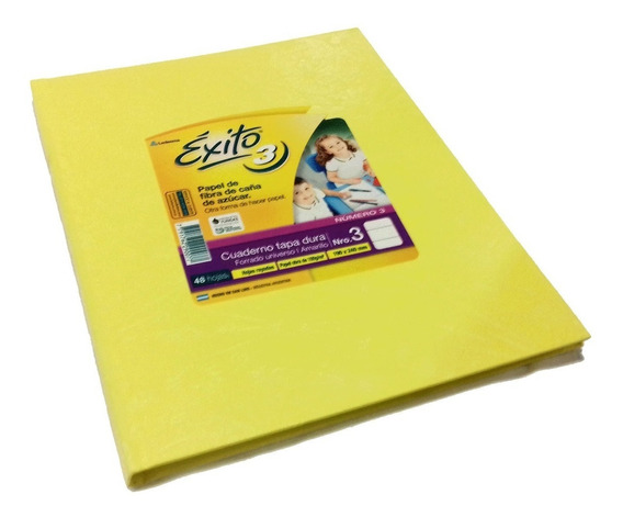 Cuaderno Exito X8 Unidades 48 Hojas Tapa Dura Para Forrar