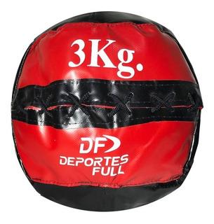 Medicine Ball De Lona 3 Kg Full Box Tipo Dinamax Crossfit