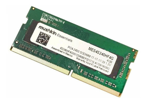 Ram Note  4gb Ddr4 2400 Mushkin Essentials