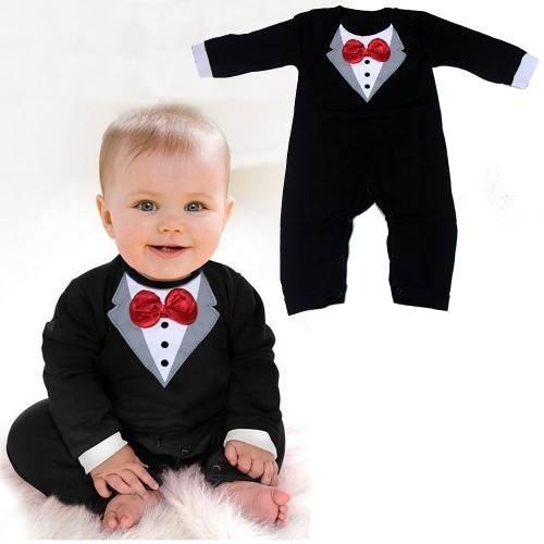 Macacão Black Tie Bebe Homenzinho Social Terno Gravata M17