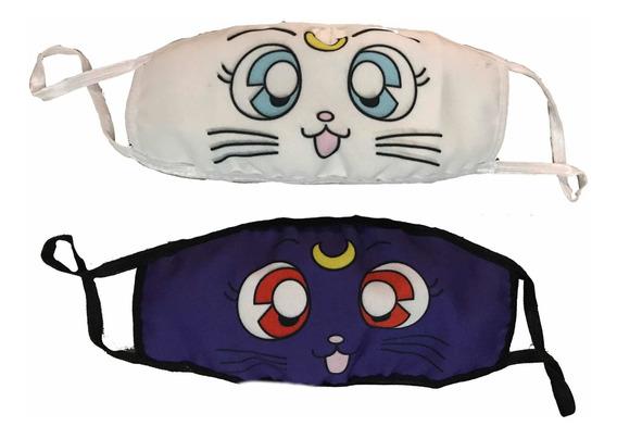 Cubrebocas Artemis O Luna Sailor Moon Tapa Bocas Tela Anime