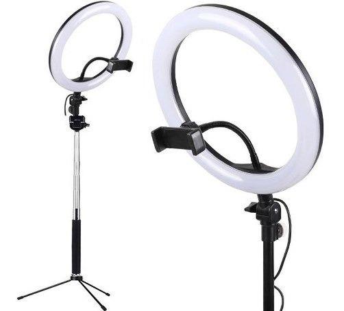 Kit Iluminação Led Ring Light + Tripé Suporte Celular Selfie