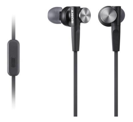 Imagen 1 de 2 de Sony Mdrxb50ap Extra Bass Black Audífonos