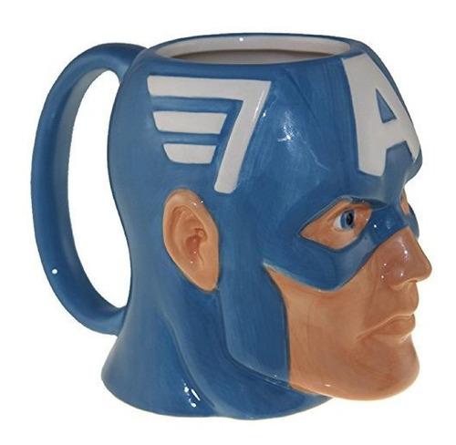 Imagen 1 de 3 de Taza Del Escudo De Marvel Capitán América