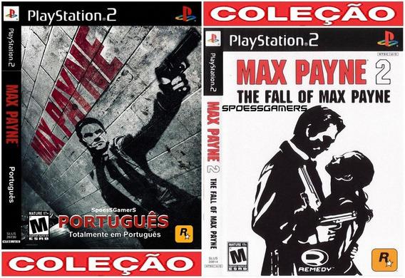 Max Payne 1 Português E 2 (usa) Ps2 Coleção (2 Dvds) Patch