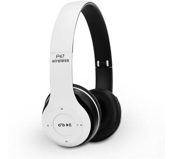 2 Fone De Ouvido Bluetooth P-47 Wireless Headphones Sem Fio