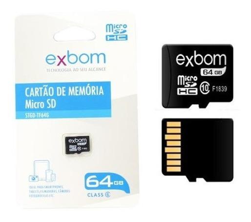 Cartão De Memoria Exbom 64gb Micro Sd Tf64g