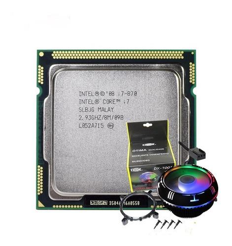 Processador Intel Core I7-870 2,93ghz Lga1156 Ddr3 + Cooler