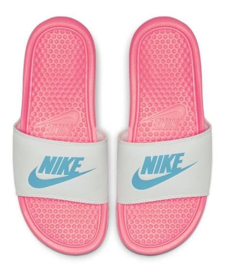Sandalia Nike Benassi Jdi Rosa 343881-616 Nks022