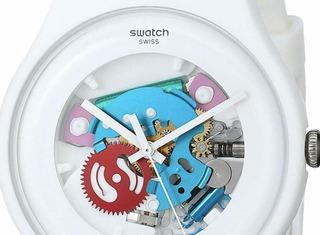 Reloj Swatch Mujer Blanco Suow100 Importado Sin Uso Original