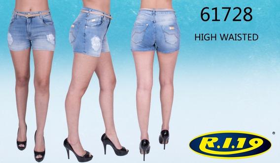 Short Feminino High Waisted Ri19 61728