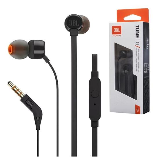Fone Jbl C/ Microfone Tune T110 Original - Imperdível