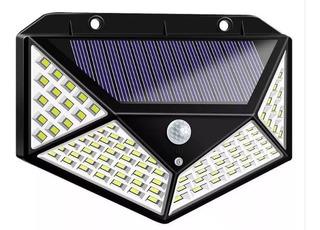 Lampara Solar Recargable Cn Sensor De Movimiento 120° 100led