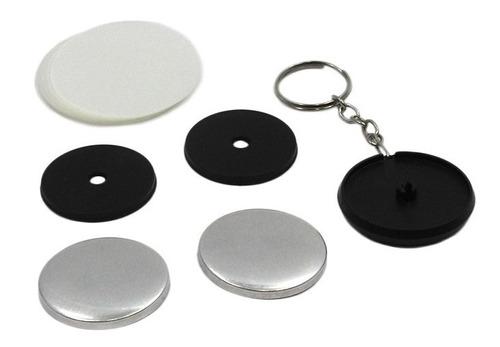Button Chaveiro Duas Faces 38mm + Alfine 38mm