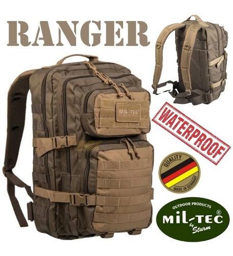 Imagen 1 de 4 de Mochila Táctica Mil-tec Ranger Verde Con Coyote Impermeable