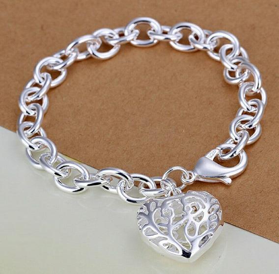 Bracelete Com Pingente Coração Fashion