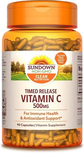 Sundown Vitamina C Antioxidante Apoya Sist Inmunologico 500m