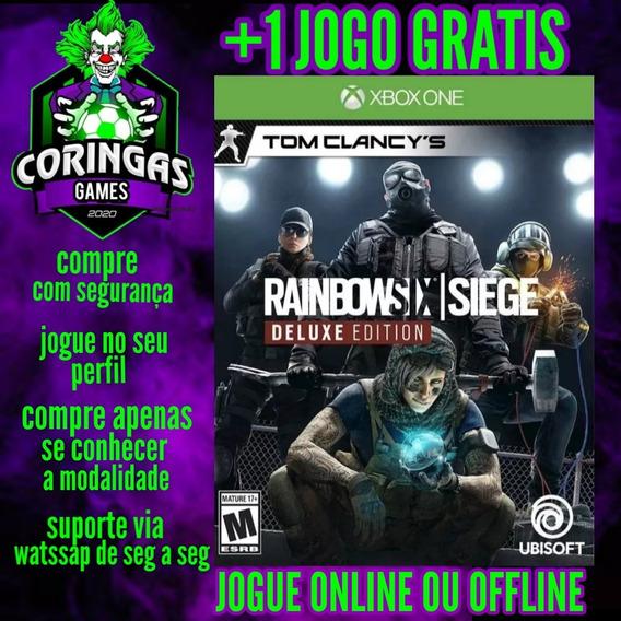 Rainbow Six Siege Deluxe Edition Xbox One + 1 Jogo Brinde