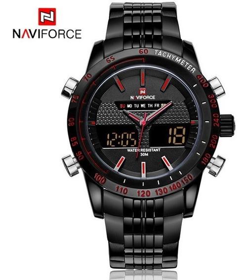 Relogio Naviforce 9024,original Aço Inoxidável, Novo,2 Cores