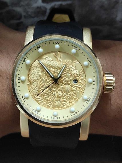 Relógio Masculino Yakuzh Com Caixa Somente Está Semana!!
