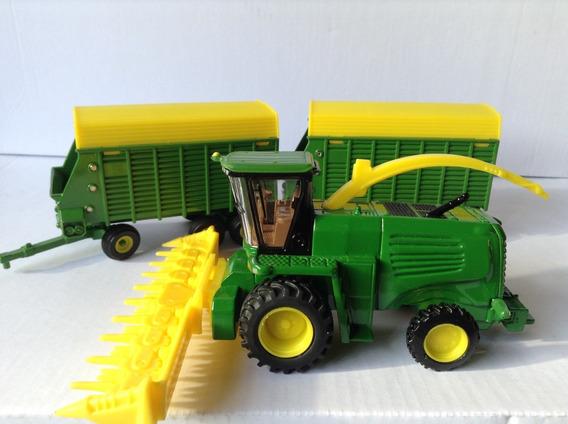 Miniaturas John Deere Forrageira E Vagões 1/64