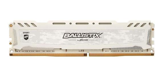 Memória Ram 8gb 3200mhz Ddr4 Gamer Crucial Ballistix Branca