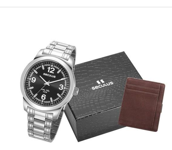 Relógio Masculino Seculus Esportivo 23639g0svna1 Prata