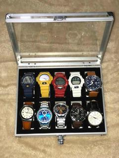 Caja De Relojes Organizadoras De 10 Puestos Exclusivas