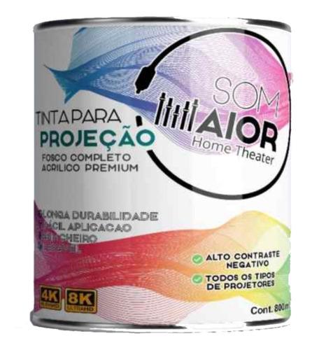 Tinta Projeção Parede Tela Lcd Dlp Led 4k Hd 3d Projetor