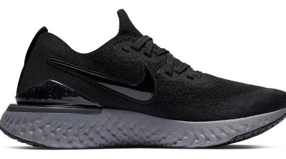 Tenis W Nike Epic React Flyknit 2 Mujer Original Negros Gym