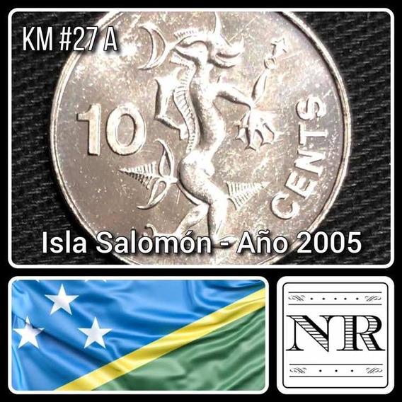 Islas Salomon - 10 Cents - 2005 - Km # 27a - Espiritu Mar