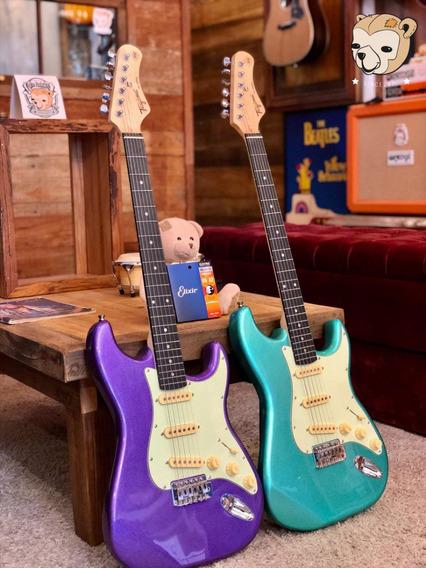 Guitarra Tagima Tg-500 Purple/green +cordas Elixir+regulagem