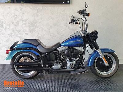 Harley Davidson Softail Fat Boy Low Azul