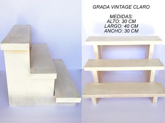 Muebles Para Mesa De Dulces Bautizo Casita Escalera Vintage
