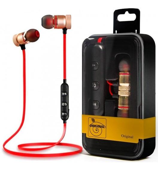 Fone Bluetooth Auricular Esportivo Musica E Original