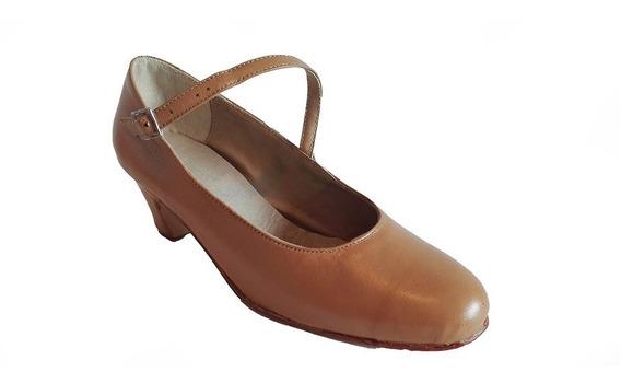 Zapatos Folklore, Español. Cuero Camel