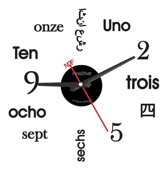 Reloj De Pared Nine2five Pvyl01sl Silencioso Color Plata