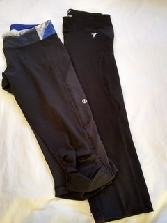 Lululemon, 2x1 Leggings Capri Negro