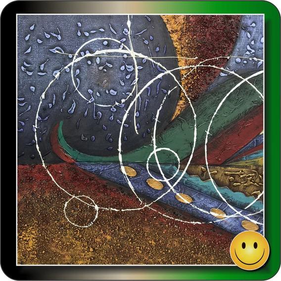 Cuadro Oleo Sobre Lienzo Pintado A Mano - Texturas Abstracto