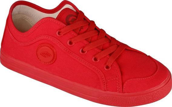 Tênis Vermelho Vulcanizado Original Cadarço Sola Vermelho Ne