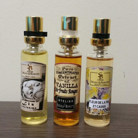 3 Perfumes Nicho Femininos 15ml Atelier Segall Barutti Edp
